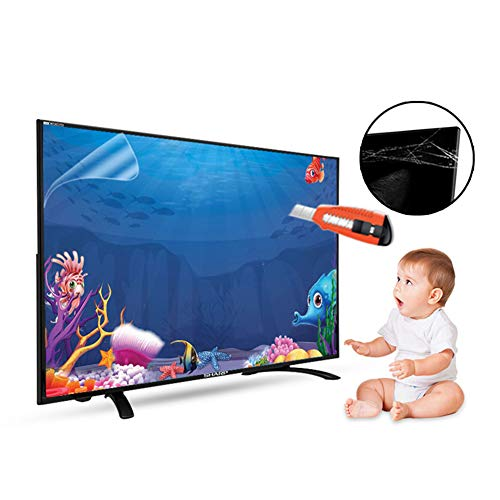 40 Inch TV Screen Protector Anti Glare Blue Light Blocking Screen Filter, Reduce Eye Fatigue, No Bubbles (40 Inch 883x498mm)