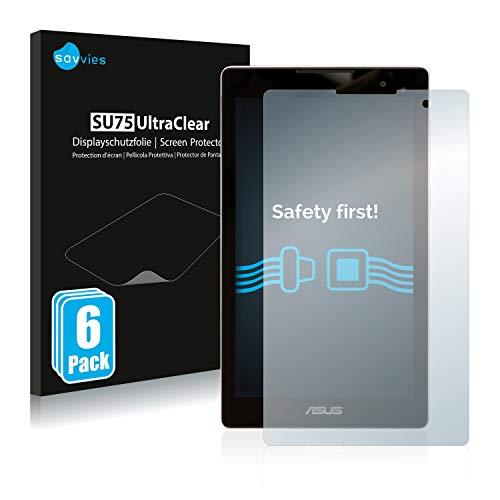 Savvies 6X Schutzfolie kompatibel mit Asus ZenPad C 7.0 Z170CG Bildschirmschutz-Folie Ultra-transparent