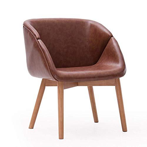 TZSJBD Massivholz-Lounge Chair Moderne Enclosed Dining Chair Einfacher Komfortabler Study Room Bar Make-up-Stuhl zu Hause Stuhl Red Oak J6B8D3 (Farbe : Braun)