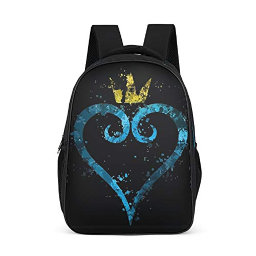 Girls Crown Hearts Splatter Backpack Water Bottle Pockets Bookbag - Games Daypack Suit for Hiking bright gray onesize