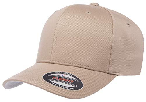 Flexfit Herren Men's Athletic Baseball Fitted Cap Kappe, Khaki, L/XL