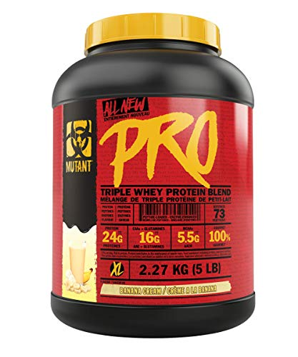 Mutant Pro – Triple Whey Protein Supplement – Time-Released for Enhanced Amino Acid Absorption – 2.27 kg – Banana Cream Pie