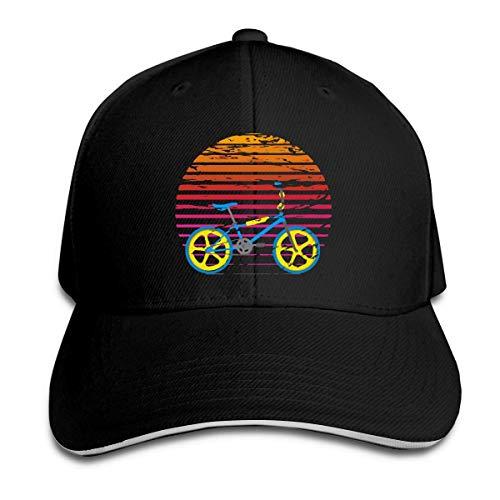 huatongxin Unisex Retro BMX Gorra de beisbols Sombrero Ajustable de los Deportes al Aire Libre de Las Gorras con Pico de Pico sándwich