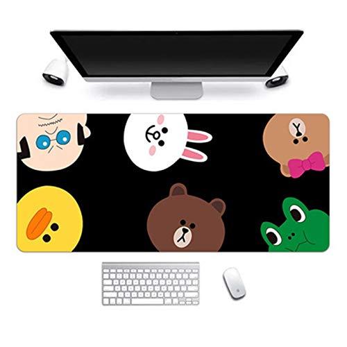 Alfombra de escritorio 30 * 80 cm Súper grande Almohadilla de ratón Linda niña rosa oficina gruesa escritorio estera muchacha historieta linda arte fresco computadora estera del teclado ( Color : 7 )