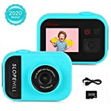 slopehill Kids Camera - 8MP Kid Digital Camera Gifts for Age 3-12 Years Old Boys Girls, 1080P High-Resolution LCD Screen Video Camcorder, USB Rechargeable Selfie Camera with 32GB SD Card (Blue)