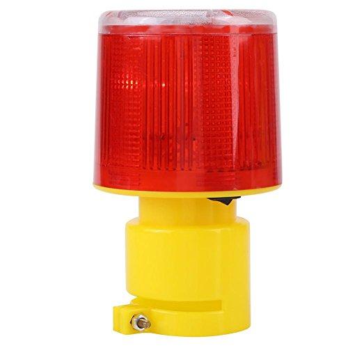 Akozon Solare Luce Emergenza LED Attenzione Lampadina 300A 500-1000 m Visibile Officina Lampada Faro Rotante Spie Strobe Flash Light Lampada D'avvertimento per Traffico Strada e Barca