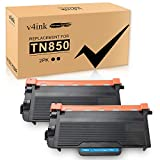 v4ink High Yield TN 850 Compatible Toner Cartridge Replacement for Brother TN850 TN 850 TN820 for use with Brother HLL6200DW HLL6200DWT HLL6250DW MFCL5800DW DCPL5650DN DCPL5600DN Printer 2 Packs