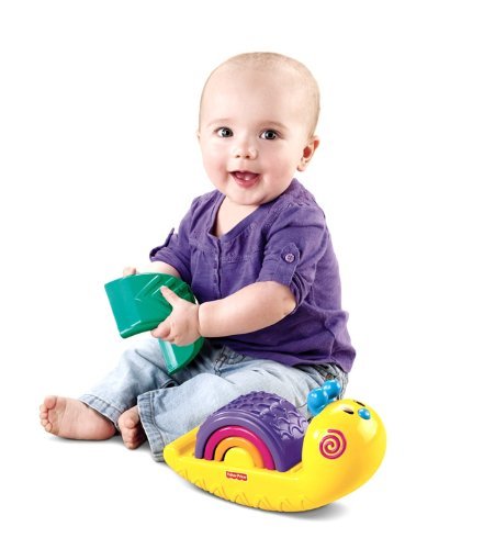 Fisher-Price Growing Baby: Rainbow Snail Stacker by Fisher-Price (English Manual)