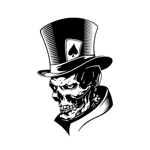 Schöne Joker Skeleton Skull Spielkarten Poker Monster Hut Wandaufkleber Autoaufkleber Vinyl Aufkleber Halloween Junge Schlafzimmer Hauptdekoration Kunst Wandbild Poster