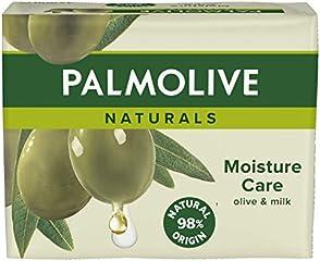 Palmolive Handtvål Naturals Moisture Care Olive, Fast Tvål - 4x90g