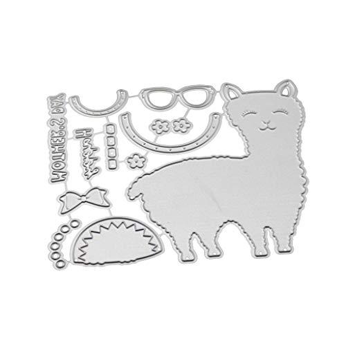 Ncbvixsw Schaf DIY Stanzschablone, Metall Stanzformen Schablonen Scrapbooking Prägeschablonen, Handwerk Prägen Papier DIY Herstellung Geschenk Cutting Dies X