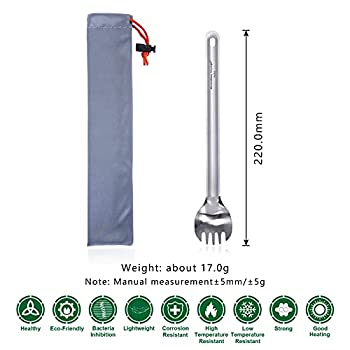 Boundless Voyage Outdoor Vaisselle Titanium Long Handled Spork Ultralight Camping Couverts