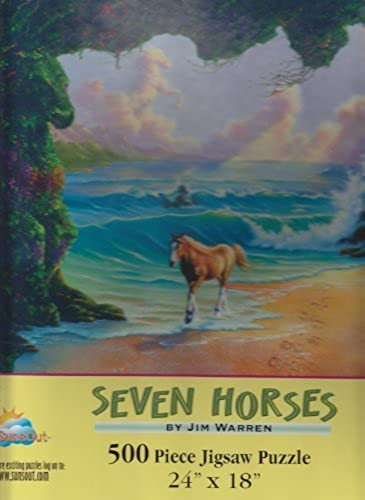 Seven Horses 500 Piece Jigsaw Puzzle by SunsOut