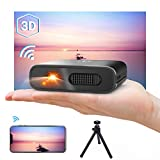 Mini Videoprojecteur WiFi - Artlii Mana, Pico projecteur Portable, retroprojecteur Soutien Full HD,Trapèze Automatique, Compatible avec iphone Android, Macbook, Switch pour Films, Jeux, cadeau de Noël