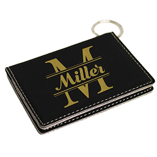 Custom ID Card Holder Key Chain - Personalized Wallet Keychain