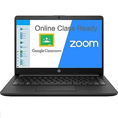 "HP 14 14.0"" Laptop Computer/ AMD Athlon Silver 3050U Up to 3.2GHz (Beats i3-7130u)/ 8GB DDR4 RAM/ 256GB SSD/ Webcam/ Type-C/ Microphones/ Black/ Online Class Ready/ Windows 10 Home S/ SPMOR MousePad"