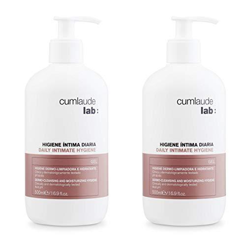 Cumlaude - Gel Higiene Íntima Diaria - Limpiador hidratante y protector para la Zona Íntima - Pack de 2 x 500 ml