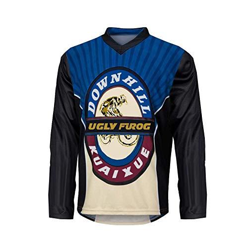 Uglyfrog 2020 MTB Downhill Trikot Kompressionsshirt Herren Kurzarm Fitness T-Shirt Freizeit Männer Laufshirt Printed und Klassisch Top Funktionswäsche