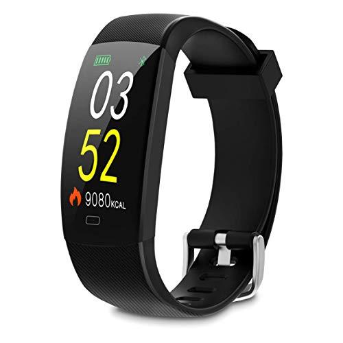 SMARTIX SMART BAND F64, Orologio Multifunzione, Fitness, Tracker, Contatore Passi e Calorie, Sonno, Meteo, Gestione Musica e Fotocamera, Notifiche, App gratuita (IOS Android)