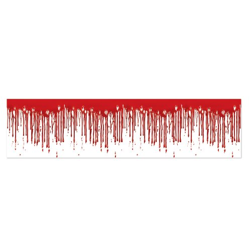 Beistle Halloween Dripping Blood Party Tape, 1 piece, Red/White