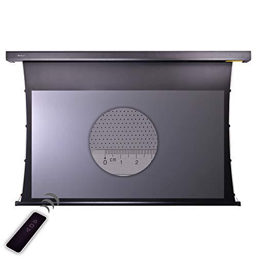 HiViLux Tension Motor Leinwand Dualspann System Hochkontrast Grau Tuch: HiViGrey Cinema 5D MP/HDR Akustics 8K Gain=1,25 Micro Perforated schalldurchlässig (16:9 Bild:299x168cm 135
