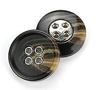 樹脂ボタン 樹脂ラウンドフラットバックブラックボタン服のための装飾品の装飾的な手作りDiyコート衣服ミシン工芸品アクセサリー2/4ホール 縫製クラフトアクセサリー (Color : R, Size : 30MM 6PCS)