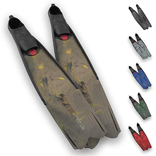 SEAC Motus Aletas largas de Buceo, Freediving y Pesca submarina, Adultos Unisex, Marron, 45/46