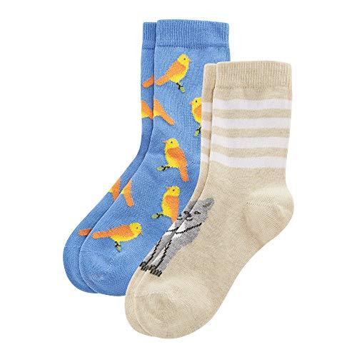 Living Crafts Socken, 2er-Pack 35-38, cobalt/candy