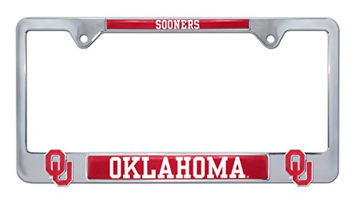 University of Oklahoma License Plate Frame Variation (3D Sooners)