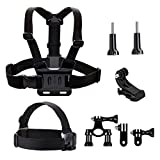 <span class='highlight'><span class='highlight'>TEKCAM</span></span> Action Camera Accessories Kit Head Strap Chest Harness Bike Mount Compatible with Gopro Hero 8 7 6/ Crosstour/AKASO EK7000 Brave 4/ Campark ACT74/ APEMAN/Dragon Touch 4k Waterproof Camera