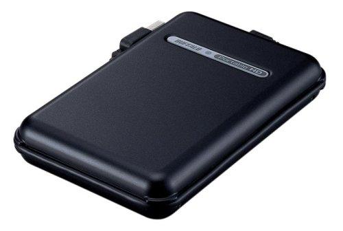 BUFFALO TurboUSB/耐衝撃/巻きピタケーブル収納 USB2.0用 ポータブルHDD 320GB ブラック HD-PF320U2-BK(-)