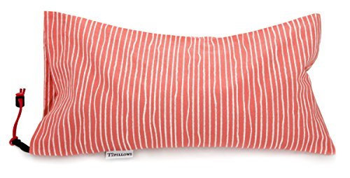 T2pillows Buckwheat Travel Pillow 100% Organic Cotton (10 x 16) Pesticide Free Hulls with Removable...