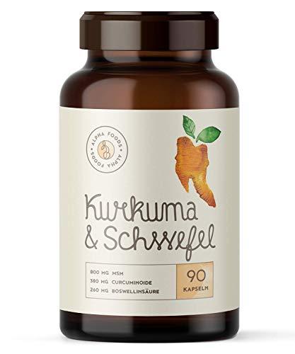 TH2 Immunsystem | Kurkuma & Schwefel | Mit hochreinem MSM, Kurkuma, Weihrauch,...