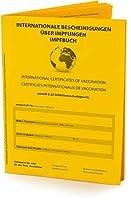 IMPFAUSWEIS und IMPFPASS nach offiziellen Vorgaben. 32 Seiten im handlichen Taschenbuchformat 9,3 x13 cm. Sehr stabile Premium-Ausführung (dickes Papier) für lange Haltbarkeit. EUROPÄISCHES REISEDOKUMENT: Das Impfbuch entspricht den Vorgaben der WHO ...