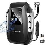 Compressore Portatile per Auto, Winzwon Mini Pompa Elettrica 12V 150PSI con Touchscreen Digitale a LED per Pompa di Pneumatici con Cavo Lungo per Auto, Bici, Moto, Palla