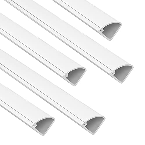 Corner Cable Concealer, 85-inch Corner Cord Cover, Paintable Corner Duct Cable Management Channel for Floor Baseboard, Wall Corner - 5 X L 17in