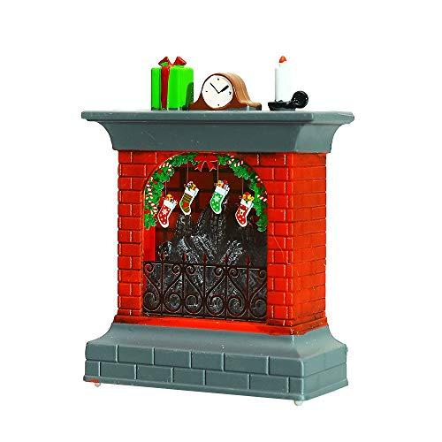 Lámpara de chimenea LED, luces decorativas sin llama, diseño de muñeco de nieve y Papá Noel para decoración de estufa de Navidad o jardín, Santa Claus, Sock