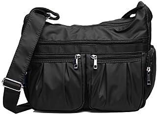 Crossbody Bags for Women Multi Pocket Shoulder Bag Waterproof Nylon Travel Purses and Handbags Work