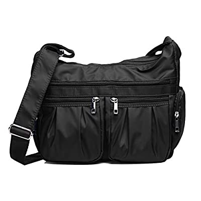 Volcanic Rock Shoulder Bag Cross-body Purse Waterproof Nylon Travel Handbags with Zipper for Women