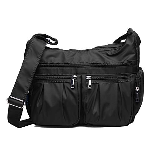 Crossbody Bags for Women with RFID Multi Pocket Shoulder Bag Lightweight Waterproof Nylon Travel Purses and Handbags