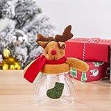 LOVIVER Rentier Vorratsdose Geschenkdose Bonboniere Süßigkeiten Dose für Weihnachten Party