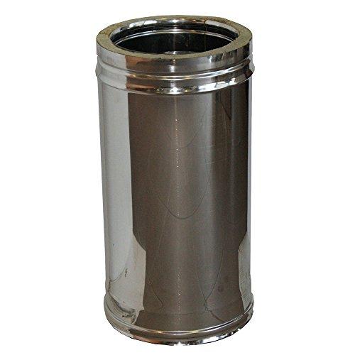 MISTERMOBY TUBO CERTIFICADO AISLADO DOBLE PARED ACERO INOX DIAMETROS 200/250 MM DE 250 MM