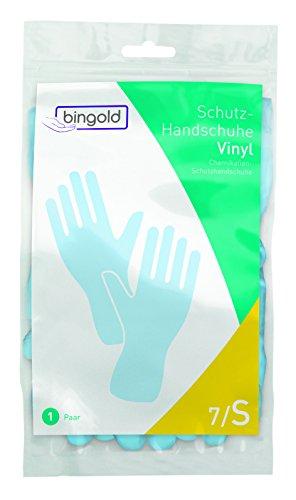 BINGOLD Vinyl-Schutzhandschuhe S blau 1 Paar