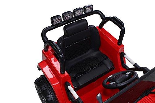 RC Auto kaufen Kinderauto Bild 4: Actionbikes Motors Kinder Elektroauto Offroad Jeep 2 x 35 Watt (Rot)*