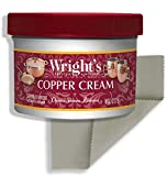 Wright's Copper and Brass Cream Cleaner - With Polishing Cloth - Gently Cleans and Removes Tarnish without Scratching