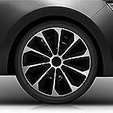 Autoteppich Stylers 15' 15 Zoll Radkappen/Radzierblenden Nr.006 (Farbe Schwarz-Silber), passend für Fast alle Fahrzeugtypen (universal)