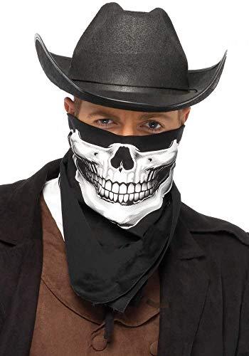 Skull Bandana Totenkopf Tuch schwarz Biker Halstuch Unisex von Leg Avenue