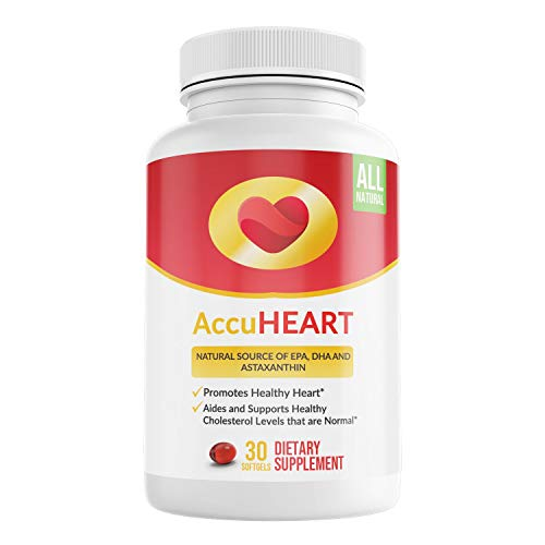 AccuHeart • Cell Grail - Natural Krill Oil Dietary Supplement, Provides Heart Health Support, Promotes Healthy Blood Pressure and Cholesterol Levels | 30 Potent Softgels, Non-GMO