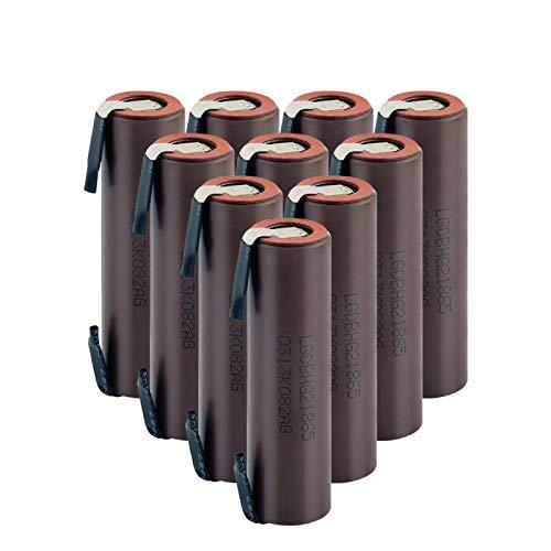 NHFGJ 18650 Batería BateríAs Recargables Hg2 18650 Litio Li-Ion 3000mah 20a Alto Drenaje para Batería De Destornillador 1PCS