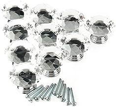 Deesen 10st 40mm Crystal Glass Diamond Shape Kast Knop Lade Pull Handvat Keuken